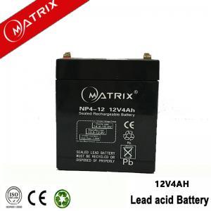 China Matrix 12v 4ah AGM vrla battery on sale