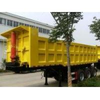 Quality 3 Axles Used Truck Trailers , Used Tipper Trailer With 45 Ton Payload for sale