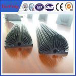 Quality Hot! Black Anodized Aluminum Sunflower Heatsink, aluminum heat sink extrusion profiles for sale