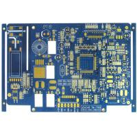 Quality Blue 4 Layer FR4 Flash Gold Bare Rigid PCB Board Fabrication High Precision for sale