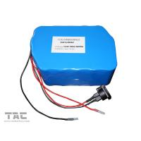 Quality 12V LiFePO4 Battery Pack  f'or Street Lamp  IFR 26650 50ah With Connector for sale