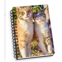 Quality Customize A4 A5 A6 Cover 3D Lenticular Notebook With Spiral For School / Office Supplies for sale