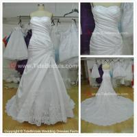 Quality NEW!!! Strapless Mermaid wedding dress Lace satin skirt Bridal gown #AS1579 for sale