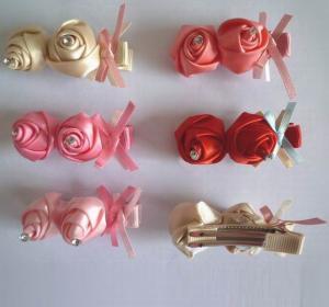 Buy cheap Mini Ribbon Rose Flower Hairgrips 2C0070 from wholesalers
