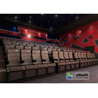 Quality 4D Cinema 4D Movie Theatre Equipment With Motion Chair 3 / 4 / 5 Seats A Set for sale