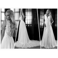 Quality Aline bridal gown Low back Lace shoulders wedding dress #0024 for sale