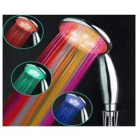 Buy Water Saving Rainbow Light Shower Head , LED Hand Shower Head Adjustable at wholesale prices