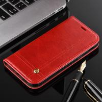 Quality Book Cover Magnetic Leather Case For Samsung A3 Oily Vintage Two Card Slot for sale