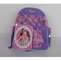 Pretty Cartoon Character Backpacks , Personalized Kids Backpacks Purple