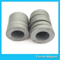 China Y35 Grade Permanent Ferrite Ring Magnet SrO / Bao And Fe2O3 Material for sale