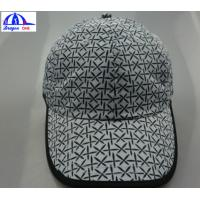 Quality Polyester White / Back Unisex Custom Running Caps With Snapback And Top Eyelets for sale