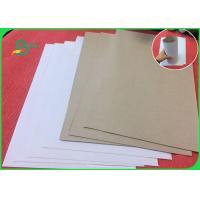 China Recycled Wood Pulp White Coated Duplex Board With Grey Back For Notebook on sale