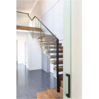 Buy cheap Clear glass railing floating stair from wholesalers