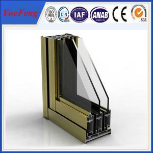 Quality best aluminum window frames price,price of aluminium sliding window making materials for sale