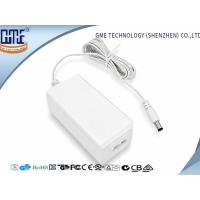 Quality Fork Groove DC Connector 12V 1.5A Desktop Ac Dc Plug Adapter , 85% Efficiency for sale