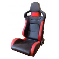 Quality PVC Adjustable Red And Black Racing Seats / Sports Car Seat with single slider for sale