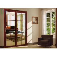 Buy cheap Aluminium Large Lighting Area Sliding Tempered Glass Door Easy Movement from wholesalers
