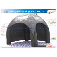 Advertising Inflatable Air Tent , Black Blow Up Spider Dome Tent for sale