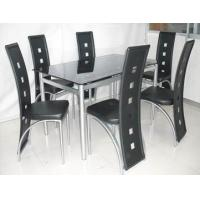China Cool Rectangular Dining set Modern Dining Room Tables For 6 People on sale