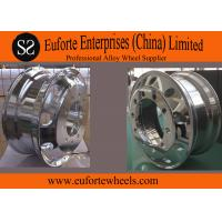 China 24 . 5   Chrome  forged aluminum truck wheels / forged replica wheels on sale