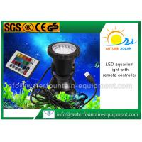 Quality LED Color Changing Submersible Aquarium Light , Fountain Light With Remote Controller for sale