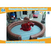 Quality Funny Large Inflatable Games Inflatable Mechanical Bull Riding Machine Games With Digital Printing for sale