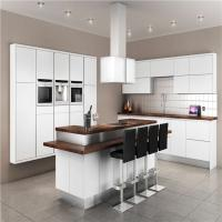 China Modern Solid Wood White Kitchen Cabinets MDF Board With Single Sink / Faucet on sale