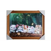 Quality Love Cat Image Lenticular 3d Pictures Decoration Craft Modern PS Frame For House for sale