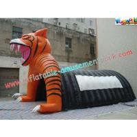 China Custom Inflatable Party Tent , Tiger Tunnel Tent For Advertising on sale