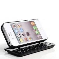 Adjustable Slide out Iphone 4 Bluetooth Keyboards Swivel Case with Backup Light for sale