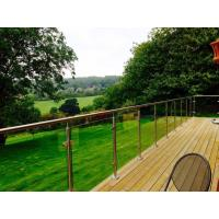 Quality Outdoor balcony stainless steel glass railing / glass balustrade design for sale