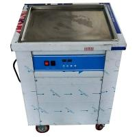 Square Shaped Pan Stir Fried Ice Cream Machine With Toshiba Compressor