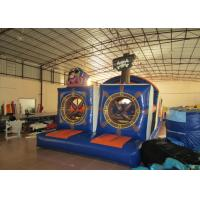 Quality Outdoor Athletic Inflatable Obstacle Course Pirate Themed Digital Painting for sale