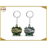 Quality Die Casting 3D Brass Vintage Metal Key Ring Pear Finishing For Promotion With Laser Logo for sale