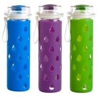 Quality High Temperature Water Bottle Glass Silicone Sleeve Anti - Skid Insulation for sale