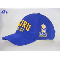Quality 100% Polyester Embroidery Baseball Cap With JCJRU  Logo for sale