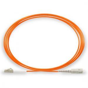 China Simplex Multimode Fiber Patch Cord LC / UPC to SC / UPC 50 / 125 OM2 on sale