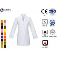 Quality Long Sleeve Disposable Medical Workwear Notched Collar Three Pockets for sale