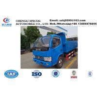 Factory selling bottom price 3tons dongfeng 4*2 LHD garbage dump truck, 2019s best price 3tons China dump garbage truck for sale