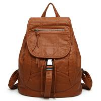 Buy cheap Spring / Summer Fashion Ladies Backpack Washed Leather For Young Girls from wholesalers