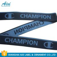 Quality Eco - Friendly Webbing Tape Jacquard Elastic Waistband With Custom Printed Logo for sale