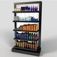 Quality Black 5 Tier Display StandPOS Perspex Shelving DisplayRetail Bath Product Glossy for sale