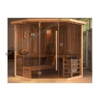 Quality Polygon Cedar Traditional Sauna Indoor For 3 Person - 6 Person for sale
