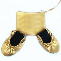 Hot Selling Night Club Gold Flat Dance Shoes Ballerina Folding Shoes Pumps Disposable Ballet Shoes