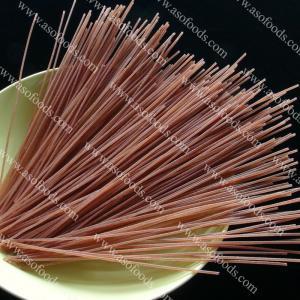 China organic vegetarian red rice spaghetti made by thai jasmine red rice on sale
