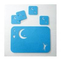 Quality Laser cut polyester felt placemats and coaster set for sale