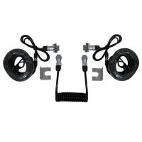 Buy 7 Pin Trailer Curly Backup Camera Cable , Video Audio Spring Coiled Electrical Wire at wholesale prices