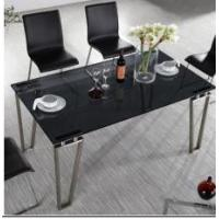 Quality house steady frame tempered glass topped dining tables for sale