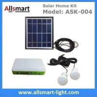 Quality DC Indoor Solar Home Lighting System Kit With 2 Bulbs 5M Wire Solar Emergency Camping Light Can Charge Mobile Cell Phone for sale