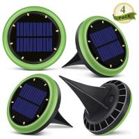 Buy 8 Led Solar Ground Lights Garden Solar Disk Ground Light For Night 2 Years Warranty at wholesale prices